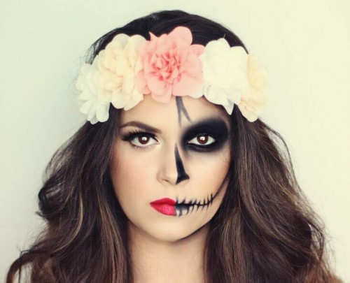 99-halloween-make-up-ideen-gesicht-und-hnde-schminken-halloween-make-up-ideen-elegantes-halloween-make-up-ideen-bild